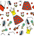 summer clothes pattern vector image vector image