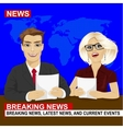 TV news anchors reporting breaking news vector image vector image