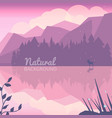 twilight northen background vector image vector image