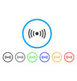 wi-fi point rounded icon vector image vector image