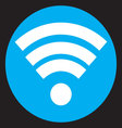 Wifi icon flat design vector image vector image