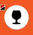 wine glass for drinking alcohol vector image vector image