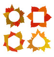 Yellow red orange autumn leaves banner