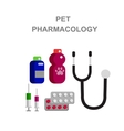 high quality veterinary object and icons vector image