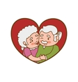 grandparents old person woman man icon vector image