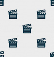 Cinema Clapper icon sign Seamless pattern with vector image