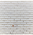 interior room with white brick wall and floor vector image