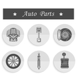 Set of spare parts for car vector image