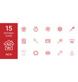 15 new icons vector image vector image