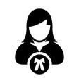 advocate icon female user person profile avatar