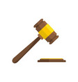 auction gavel icon flat style vector image vector image