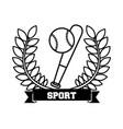 baseball sport emblem icon vector image vector image