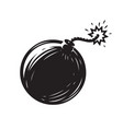 black bomb isolated on white background weapon vector image
