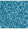 Blue underwater abstract plants seamless pattern vector image vector image