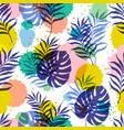 botanical seamless modern pattern vector image vector image
