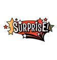 bright surprise speech bubble colorful emotional vector image