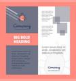 bug company brochure title page design company vector image
