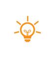 bulb logo vector image vector image