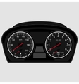 Car instrument panel vector image