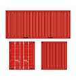 cargo container for shipping vector image vector image