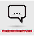 chat icon in modern style for web site and mobile vector image vector image