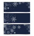 christmas banners with snow vector image