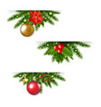 christmas garland set white background vector image