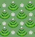 christmas seamless pattern with tree vector image