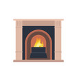 collection home different fireplaces to paste vector image vector image