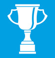 cup for win icon white vector image vector image