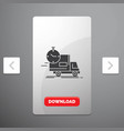 delivery time shipping transport truck glyph icon vector image vector image