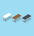 desk or table collection with flat style and vector image vector image