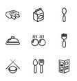 dinner icons vector image vector image