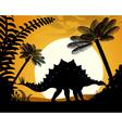Dinosaur Stegosaurus vector image vector image