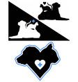 Dog and Cat Silhouettes vector image vector image