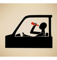 Drunk driving vector image vector image