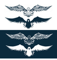 eagles set design template vector image vector image