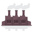 Factory Building With Smoke Stacks vector image