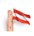 finger with austria flag vector image vector image