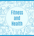 fitness flat frame vector image