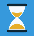 flat icon of hourglasses vector image vector image