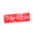for sale red grunge rubber stamp vector image vector image