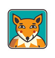 fox head of fox vector image vector image