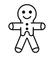 gingerbread icon outline style vector image