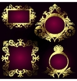 golden frames set vector image vector image