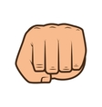 hand closed fist vector image vector image