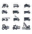 icon emblem sign symbol logo car truck vector image vector image