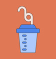 icon in flat design fitness cocktail vector image