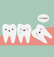 impacted tooth vector image