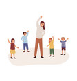kindergarten physical activity lesson flat vector image